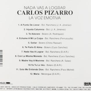 CD  Carlos Pizarro - Nada Vas a Lograr