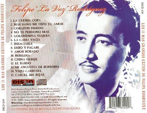 CD de Felipe Rodríguez - Los 15 mas grandes exitos (Nueva Edición)