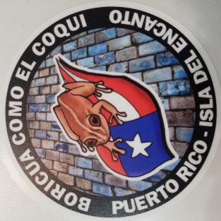 Sticker de PR - Boricua como el coquí