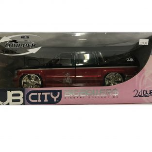 1:18 Chevrolet Suburban (2 TONOS) Negro y rojo JADA TOYS