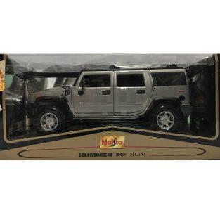 1:18 Hummer H2 SUV Gris - Maisto