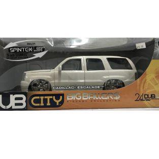 1:18 2002 Cadillac Escalade Blanco DUB CITY