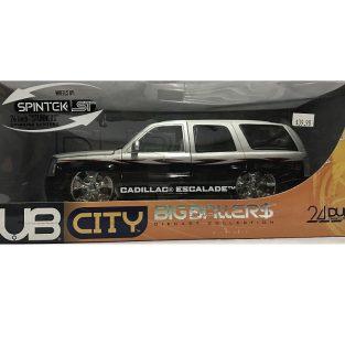 1:18 Cadillac Escalade (2 TONOS) Gris y Negro DUB CITY