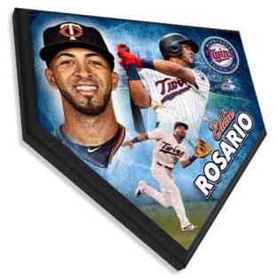 Eddie Rosario  - Home plate plaque 11.5 X 11.5