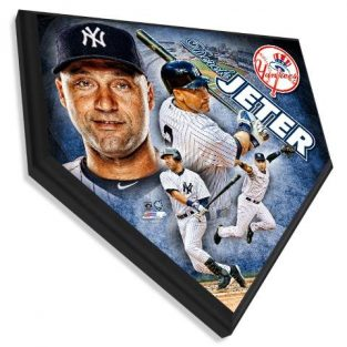Derek Jeter - Home plate plaque 11.5 X 11.5