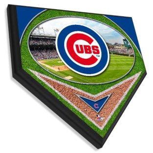 Chicago Cubs Team  - Home plate plaque 11.5 X 11.5