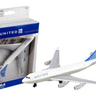 Avión a escala United 747