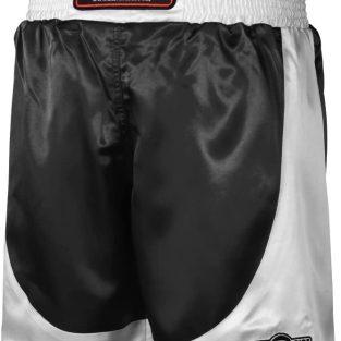 Pantalon de Boxeo Negro y Blanco / Boxing trunks Black & white - Ringside PSTBK