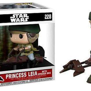 "Funko Pop -Star Wars: Princess Leia With Speeder Bike  228  ""40 Star Wars"""