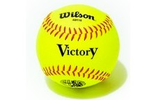 Bolas de softball Forro sintetico, centro de corcho WILSON A9115