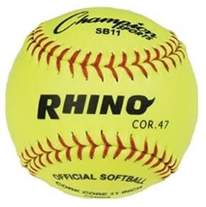 Bolas de Baseball 11'' (niñas) amarilla, cuerpo sintético SB11 Docena