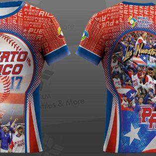 Camisa de equipo de pelota de Puerto Rico - WORLD BASEBALL CLASSIC